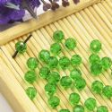 Beads, Selenial Crystal, Crystal, Bright green , Faceted Rounds, Diameter 4mm, 10 Beads, [ZZC203]